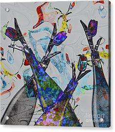 Tippy Tulips Acrylic Print by Liane Wright
