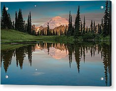 Tipsoo Lake Mt. Rainier Washington Acrylic Print by Larry Marshall