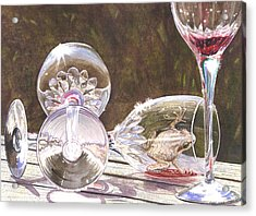 Tipsy Acrylic Print by Catherine G McElroy