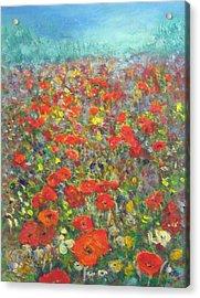 Tiptoe Through A Poppy Field Acrylic Print