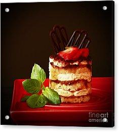 Tiramisu Dessert Passion Acrylic Print by Inspired Nature Photography Fine Art Photography