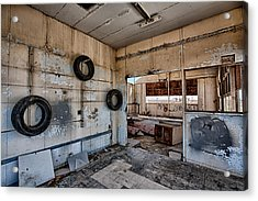 Tired Building Acrylic Print by Peter Tellone