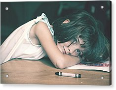 Tired Girl By Jan Marvin Acrylic Print