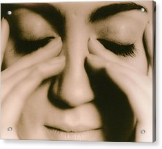 Tired Woman Acrylic Print by Cristina Pedrazzini/science Photo Library