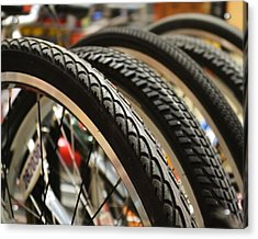 Acrylic Print featuring the photograph Tires by Mary Zeman