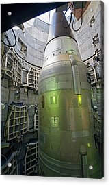 Titan Missile In Silo Acrylic Print by Jim West