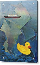 Titanic And The Ducky Acrylic Print