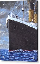 Titanic At Sea Full Speed Ahead Acrylic Print