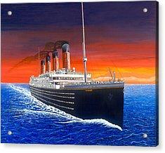 Titanic Acrylic Print by David Linton