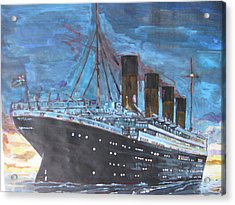 Titanic Into The Sunset Acrylic Print by Vikram Singh
