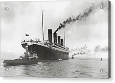 Titanic Ready For Her Maiden Voyage Acrylic Print by English Photographer