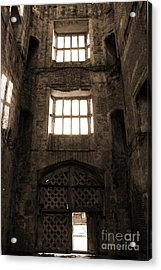Titchfield Abbey Gatehouse In Sepia Acrylic Print by Terri Waters