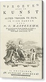 Title Page For P.j. Kasteleijn Acrylic Print