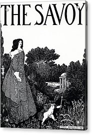 Title Page From The Savoy Acrylic Print by Aubrey Beardsley