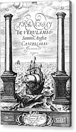 Title Page Of Instauratio Magna Acrylic Print by Universal History Archive/uig