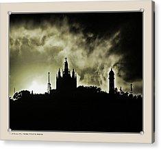 Acrylic Print featuring the photograph Tividabo. Dramatic Sunset by Pedro L Gili