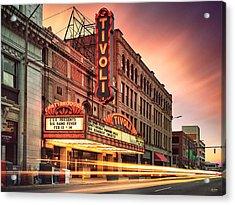 Tivoli Theatre Valentines Day Sunset Acrylic Print