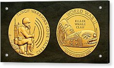Tlingit Tribe Code Talkers Bronze Medal Art Acrylic Print by Movie Poster Prints
