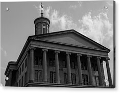 Acrylic Print featuring the photograph Tn State Capitol by Robert Hebert