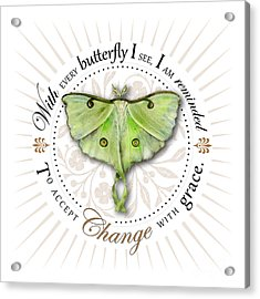 To Accept Change With Grace Acrylic Print by Amy Kirkpatrick