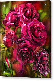Acrylic Print featuring the mixed media To Be Loved - Red Rose by Carol Cavalaris