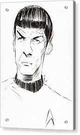 Acrylic Print featuring the drawing To Boldly Go...... by Tu-Kwon Thomas