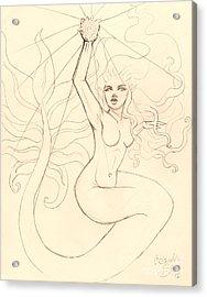 ...to Catch A Falling Star... Sketch Acrylic Print by Coriander  Shea