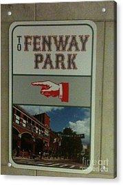 To Fenway Park Acrylic Print
