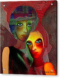 002 - To Lean On    Acrylic Print by Irmgard Schoendorf Welch