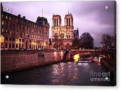 To Notre Dame Acrylic Print by John Rizzuto