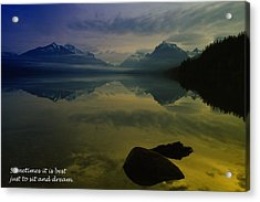 To Sit And Dream Acrylic Print by Jeff Swan