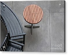 To Sit And To Set Acrylic Print by Dan Holm