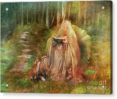 To Spin A Tale Acrylic Print by Aimee Stewart