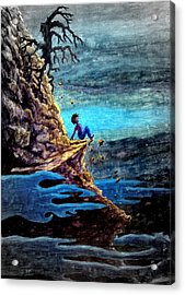 Acrylic Print featuring the painting To Steep To Turn Back ... by Matt Konar