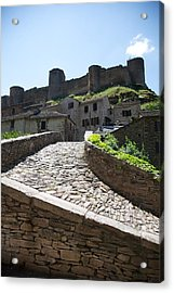 To The Castle Above Acrylic Print by Lee Stickels