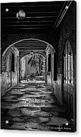To The Courtyard - Bw Acrylic Print by Christopher Holmes