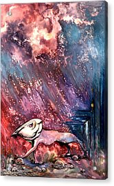 Acrylic Print featuring the painting To The Freedom by Mikhail Savchenko