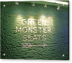 To The Green Monster Seats Acrylic Print