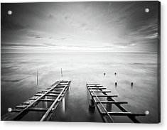 To The Infinity Acrylic Print by Claudio Coppari