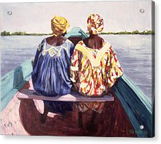 To The Island, 1998 Oil On Canvas Acrylic Print by Tilly Willis