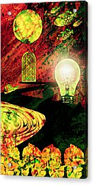 Acrylic Print featuring the mixed media To The Light by Ally  White