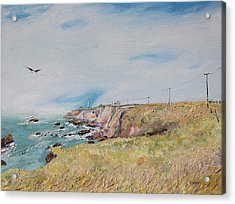 To The Lighthouse  Tribute To Virginia Woolf Acrylic Print by Asha Carolyn Young