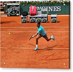 Rafael Nadal To The Net Acrylic Print by Alexi Hoeft