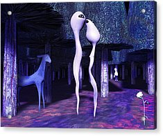 To Walk In The Park Once More Acrylic Print by Gallery Nex