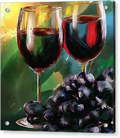 Toast Of Wine Acrylic Print