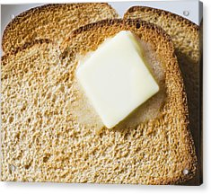 Toast With Meltin Butter Acrylic Print by Jamie Grill