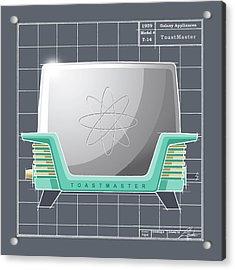 Toastmaster - Aqua Acrylic Print