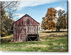 Acrylic Print featuring the photograph Tobacco Barn Ready For Smoking by Debbie Green