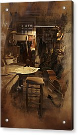 Tobacco Cello Acrylic Print by Evie Carrier