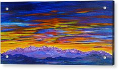 Tobacco Root Mountains Sunset Acrylic Print
